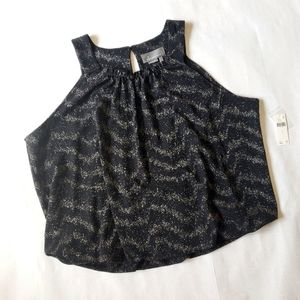 NWT Anthropologie Carly shimmer bubble tank top
